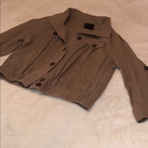 Jackets & Blazers - Brown light weight button up jacket, women's XS/S